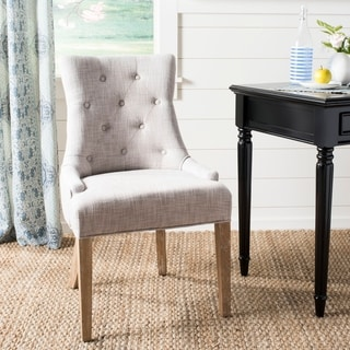Safavieh En Vogue Dining Becca Grey Viscose Weathered Oak Finish Side Chair