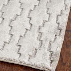 Safavieh Handmade Mirage Modern Grey Viscose Rug (2' x 8') - Thumbnail 1
