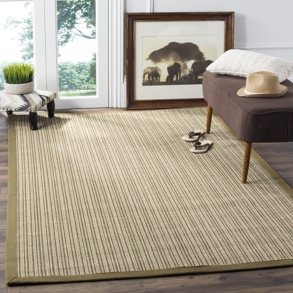 Safavieh Casual Natural Fiber Dream Green Sisal Rug (5' x 8')