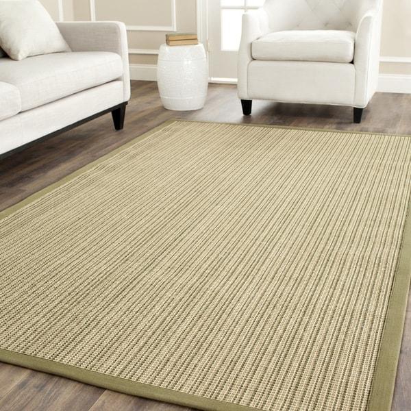 Safavieh Casual Natural Fiber Dream Green Sisal Rug (5' x 7' 6)