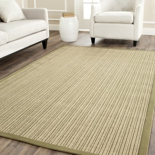 Safavieh Casual Natural Fiber Dream Green Sisal Rug (7' 6 x 9' 6)