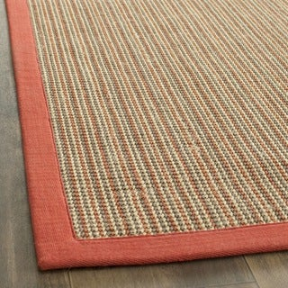 safavieh casual natural fiber dream rust sisal rug 2u0027 x
