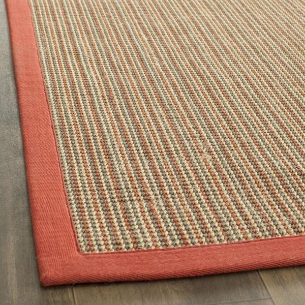 Safavieh Casual Natural Fiber Dream Rust Sisal Rug (2' x 8') - 2' x 8'