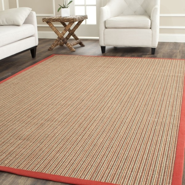 Safavieh Casual Natural Fiber Dream Rust Sisal Rug (8' x 10')
