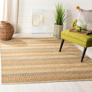 Safavieh Hand-knotted Vegetable Dye Jubilee Beige Hemp Rug - 5' x 7' 6