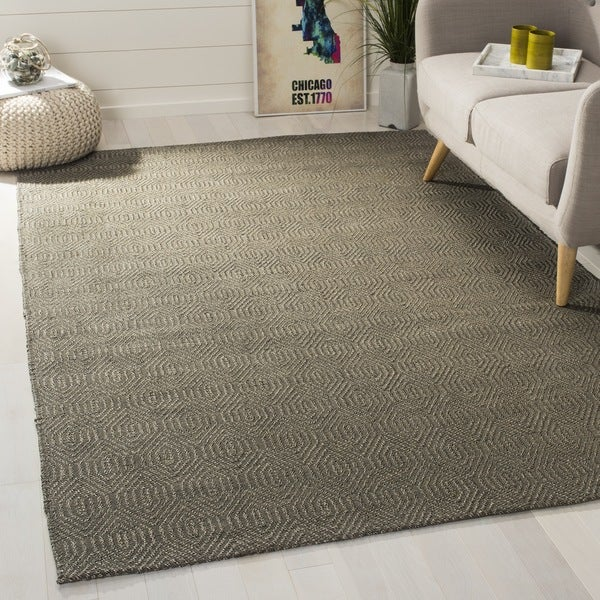 Safavieh Hand-woven South Hampton Southwest Grey Rug (7' 6 x 9' 6) - 7' 6 x 9' 6