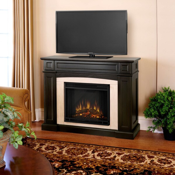 Rutherford Real Flame Dark Walnut Electric Fireplace