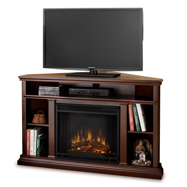 Real Flame Churchill Corner Dark Espresso 50.75 in. L x 30.5 in. D x 33.125 in. H Electric Fireplace