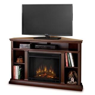 Real Flame Churchill Corner Dark Espresso 50.75 in. L x 30.5 in. D x 33.125 in. H Electric Fireplace