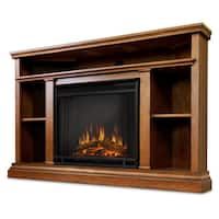 Churchill Corner Oak Electric Fireplace by Real Flame