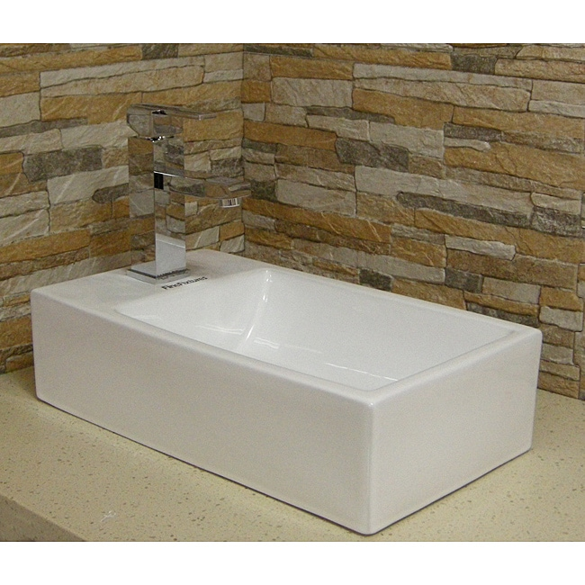 Fine Fixtures White Vitreous China Vessel Sink