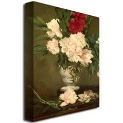 Edouard Manet 'Vase of Peonies 1864' Canvas Art