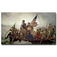 Emanuel Leutze 'Washington Crossing Delaware River in 1776' Canvas Art