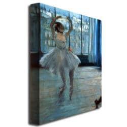 Edgar Degas 'Dancer in Front of a Window' Canvas Art - Thumbnail 1