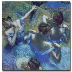 Edgar Degas 'Blue Dancers 1899' Canvas Art