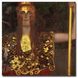 Gustav Klimt 'Minerva' Canvas Art