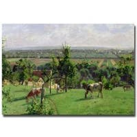 Camille Pissarro 'Hillside of Vesinet 1871' Gallery-Wrapped Canvas Art
