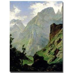Carlos de Haes 'Mountains in Europe 1876' Canvas Art