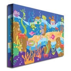 Grace Riley 'Underwater Adventures' Canvas Art - Thumbnail 1