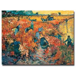 Vincent van Gogh 'Red Vineyards at Arles 1888' Canvas Art