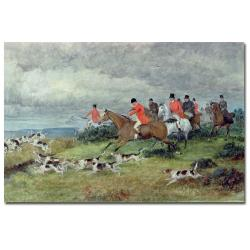 Randolph Caldecott 'Fox Hunting in Surrey' Canvas Art