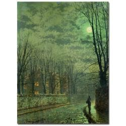 John Atkinson Grimshaw 'Going Home by Moonlight' Medium Canvas Art