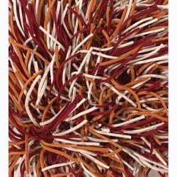 Artist's Loom Hand-woven Wool Shag Rug (9'x13') - Thumbnail 1