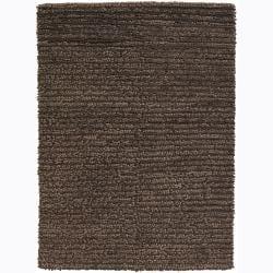 Artist's Loom Hand-woven Wool Shag Rug (7'9x10'6) - Thumbnail 0