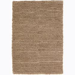 "Artist's Loom Hand-woven Wool Shag Rug (5'x7'6) - 5' x 7'6"" - Thumbnail 0"