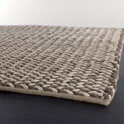 Artist's Loom Hand-woven Contemporary Abstract Wool Rug (5'x7'6) - Thumbnail 1