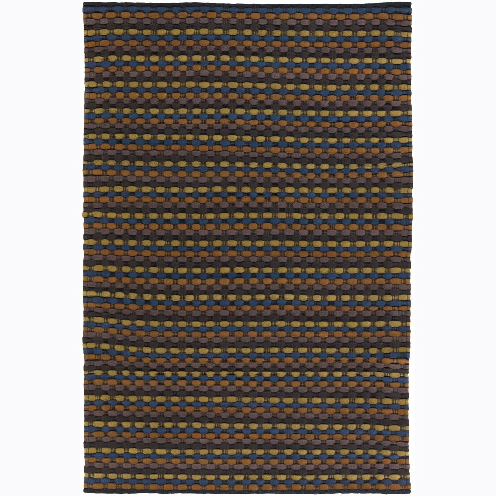 Artist's Loom Hand-woven Contemporary Stripes Wool Rug (5'x7'6)