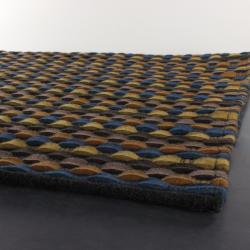 Artist's Loom Hand-woven Contemporary Stripes Wool Rug (5'x7'6) - Thumbnail 1
