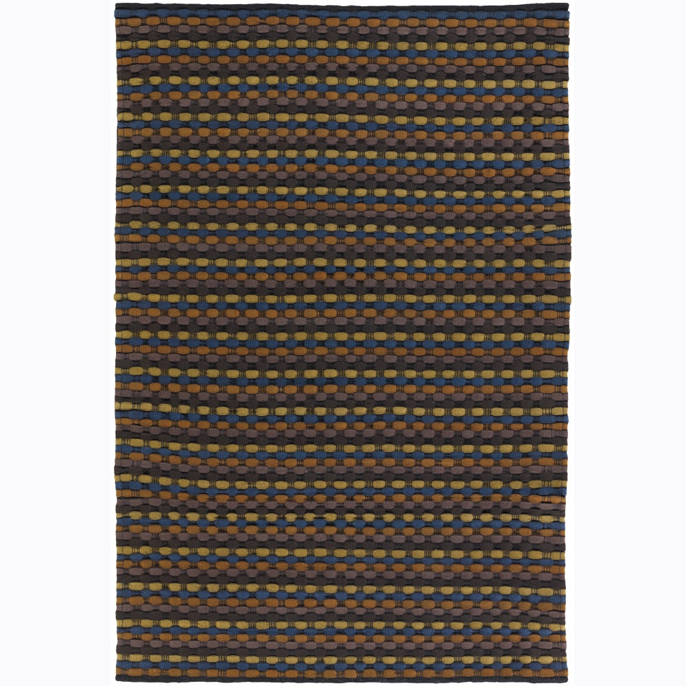 Artist's Loom Hand-woven Contemporary Stripes Wool Rug - 9' x 13'
