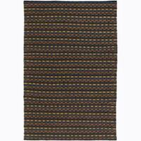 Artist's Loom Hand-woven Contemporary Stripes Wool Rug - 9'x13'