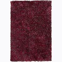 "Artist's Loom Hand-woven Shag Rug (5' x 7'6) - 5' x 7'6"""