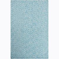 """Artist's Loom Hand-woven Contemporary Abstract Natural Eco-friendly Cotton Rug - 5' x 7'6"""""""