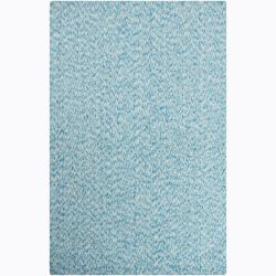Artist's Loom Hand-woven Contemporary Abstract Natural Eco-friendly Cotton Rug - 7'9 x 10'6 - Thumbnail 0