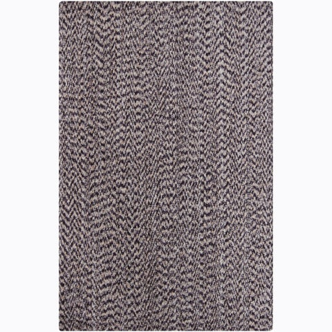 Artist's Loom Hand-woven Contemporary Abstract Natural Eco-friendly Cotton Rug - 5' x 7'6""