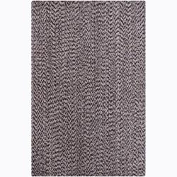 Artist's Loom Hand-woven Contemporary Abstract Natural Eco-friendly Cotton Rug (5'x7'6)