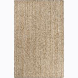 "Artist's Loom Hand-woven Contemporary Abstract Natural Eco-friendly Cotton Rug - 5' x 7'6"" - Thumbnail 0"