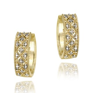 DB Designs 18k Gold over Sterling Silver Diamond Accent Cuff Earrings (2 options available)