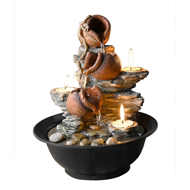 Tavolo Luci Tabletop Mini Pot Water Fountain
