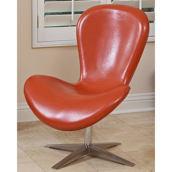 Modern Orange Polyurethane Chair by Christopher Knight Home