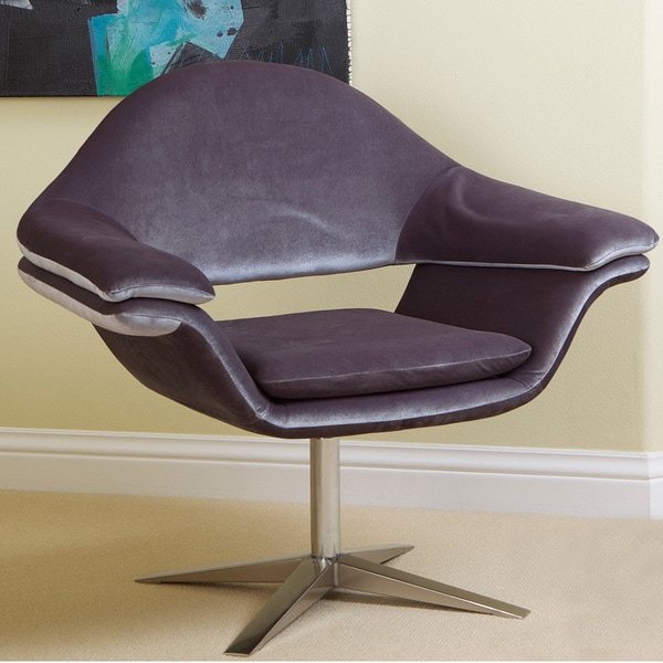Modern Grey Fabric Chair by Christopher Knight Home