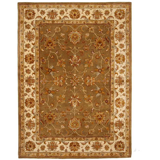 Hand-Tufted Tempest Olive Green/Ivory Area Rug (8' x 11')