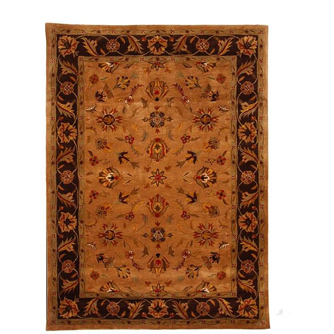 Hand-Tufted Tempest Camel/Dark Brown Area Rug (8' x 11')
