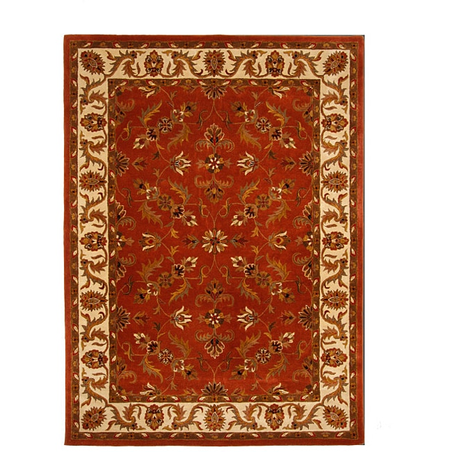 Hand-Tufted Tempest Red/Ivory Area Rug (8' x 11')