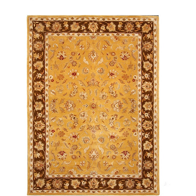 Hand Tufted Tempest Gold Brown Area Rug 8 X 11 Free