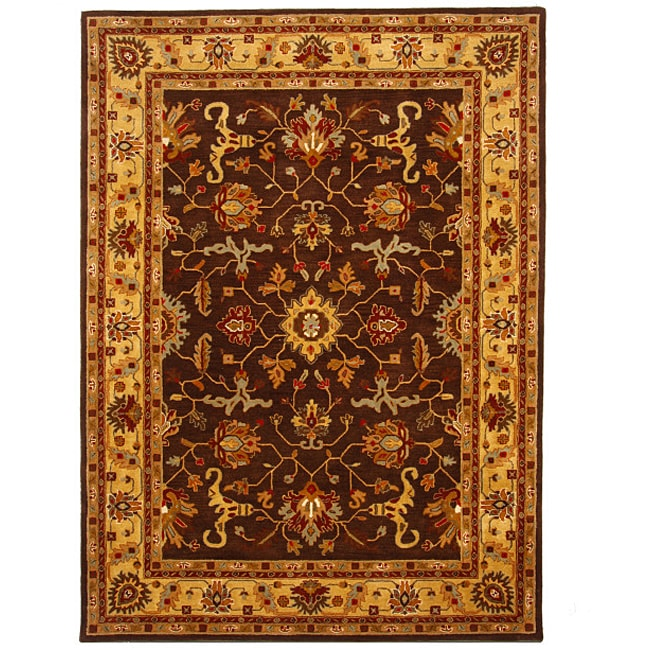 Hand-Tufted Tempest Brown/Gold Area Rug (8' x 11')