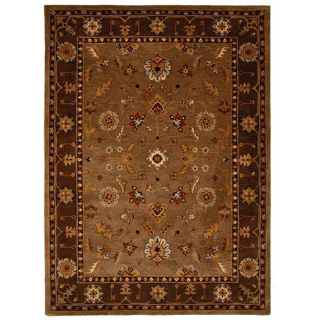 Hand-Tufted Tempest Beige/Brown Area Rug (8' x 11') - Thumbnail 0